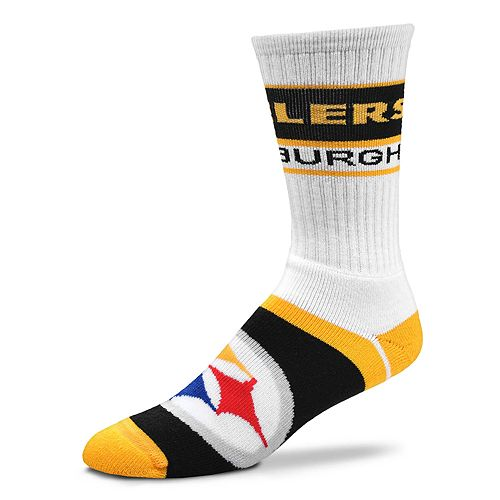 Men's For Bare Feet Pittsburgh Steelers Fashion Play Crew Socks