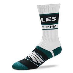Men's For Bare Feet Philadelphia Eagles Fashion Play Crew Socks