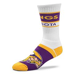 Men's For Bare Feet Minnesota Vikings Fashion Play Crew Socks