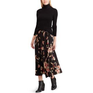 Women's Chaps Floral Midi Skirt