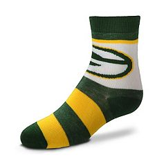 Toddler For Bare Feet Green Bay Packers Crew Socks