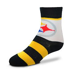 Toddler For Bare Feet Pittsburgh Steelers Crew Socks