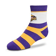 Toddler For Bare Feet Minnesota Vikings Crew Socks