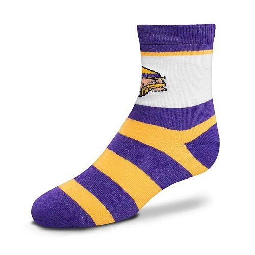 Toddler For Bare Feet Minnesota Vikings Crew Socks