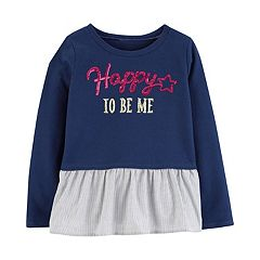 Girls 4-12 Carter's Sequin Peplum-Hem Top