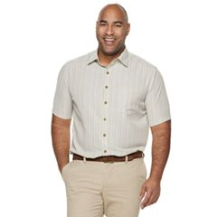 Big & Tall Croft & Barrow Classic-Fit Textured Microfiber Button-Down Shirt