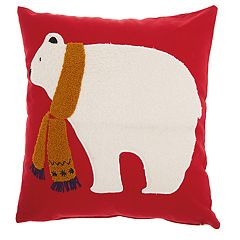 Mina Victory Polar Bear Throw Pillow