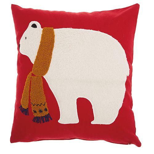 Mina Victory Polar Bear Throw Pillow
