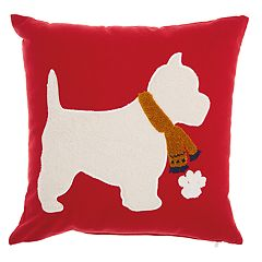 Mina Victory Scottish Terrier Throw Pillow