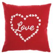 "Mina Victory ""Love"" Heart Valentine's Day Throw Pillow"