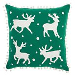Mina Victory Reindeer Holiday Throw Pillow
