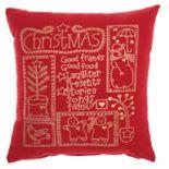 Mina Victory Snowman Christmas Throw Pillow