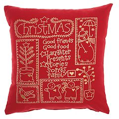 Mina Victory Snowman Christmas Throw Pillow