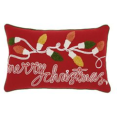 Mina Victory 'Merry Christmas' Throw Pillow