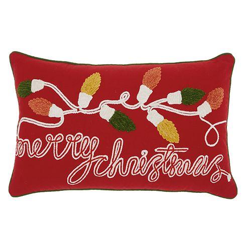 "Mina Victory ""Merry Christmas"" Throw Pillow"