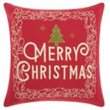 "Mina Victory ""Merry Christmas"" Tree Throw Pillow"