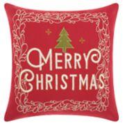 "Mina Victory ""Merry Christmas"" Tree Throw Pillow"