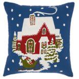 Mina Victory Santa Sleigh Christmas Throw Pillow