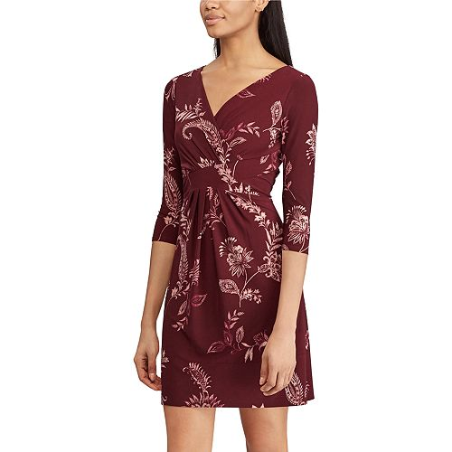 Women's Chaps Floral Faux-Wrap Dress