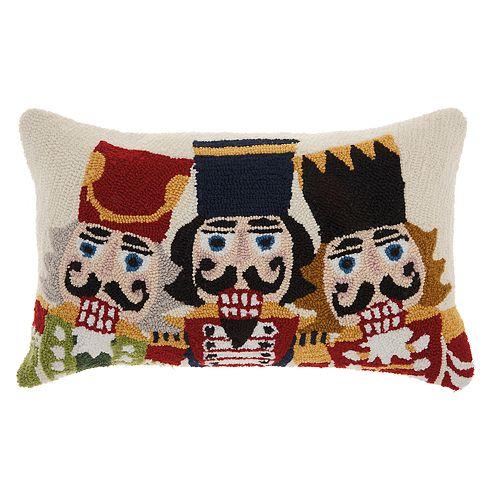 Mina Victory Nutcracker Christmas Throw Pillow