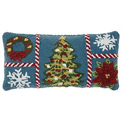 Mina Victory Snowflake Christmas Throw Pillow