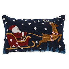 Mina Victory Santa Christmas Throw Pillow