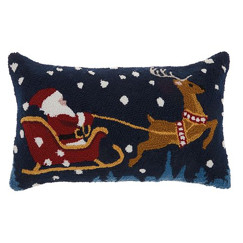 Mina Victory Santa Christmas Throw Pillow