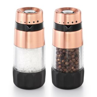 OXO Good Grips Accent Mess-Free Copper Salt & Pepper Grinder Set