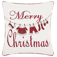 Kathy Ireland 'Merry Christmas' Throw Pillow