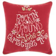 "Kathy Ireland ""Christmas Tree"" Throw Pillow"
