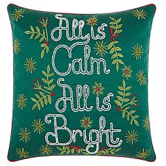 Kathy Ireland 'All Is Calm' Christmas Throw Pillow