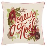 "Kathy Ireland ""Noel"" Christmas Throw Pillow"