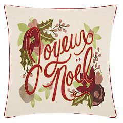 Kathy Ireland 'Noel' Christmas Throw Pillow