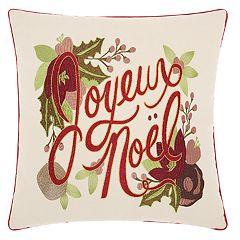 Kathy Ireland 'Noel' Christmas Throw Pillow