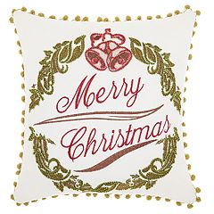 Kathy Ireland Wreath Christmas Throw Pillow