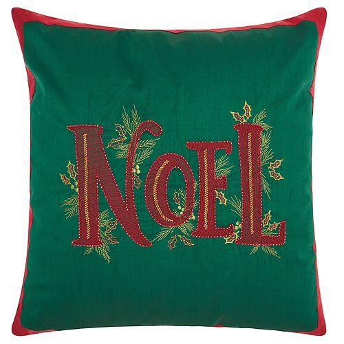"Kathy Ireland Christmas ""Noel"" Throw Pillow"