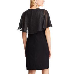 Women's Chaps Cape Overlay Sheath Dress