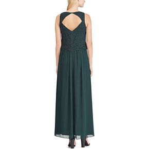 Women's Chaps Lace Open-Back Evening Gown