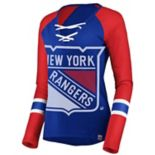 Women's New York Rangers Lace-Up Tee