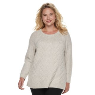 Plus Size SONOMA Goods for Life? Supersoft Lattice Stitch Top