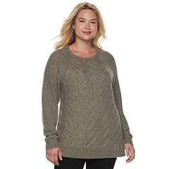 Plus Size SONOMA Goods for Life™ Supersoft Lattice Stitch Top