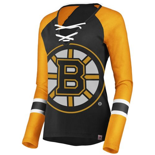 Women S Boston Bruins Lace Up Tee