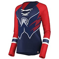 Women's Washington Capitals Lace-Up Tee