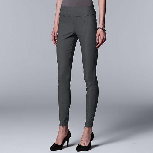 Petite Simply Vera Vera Wang Everyday Luxury Ultra Stretch High-Waist Skinny Pants