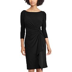 Women's Chaps Knot-Front Ruffle Sheath Dress