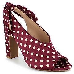 Dolce by Mojo Moxy Plum Women's Slingback High Heels