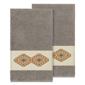Linum Home Textiles Turkish Cotton Gianna Embellished Bath Towel Set