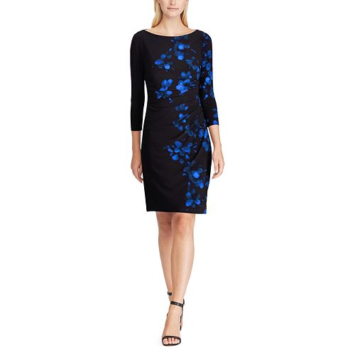 Women's Chaps Floral Ruched Sheath Dress