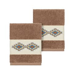 Linum Home Textiles Turkish Cotton Gianna Embellished Washcloth Set