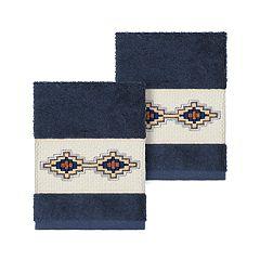 Linum Home Textiles Turkish Cotton Gianna Embellished Washcloth Set